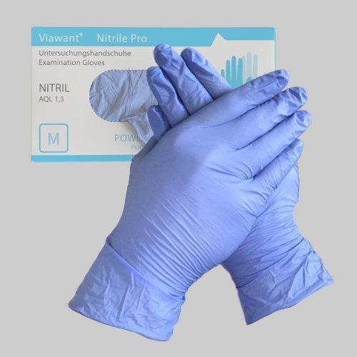 Nitril Einmalhandschuhe in Größe M von Viawant AQL 1,5