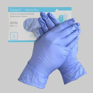 Nitril Einmalhandschuhe in Größe Svon Viawant AQL 1,5