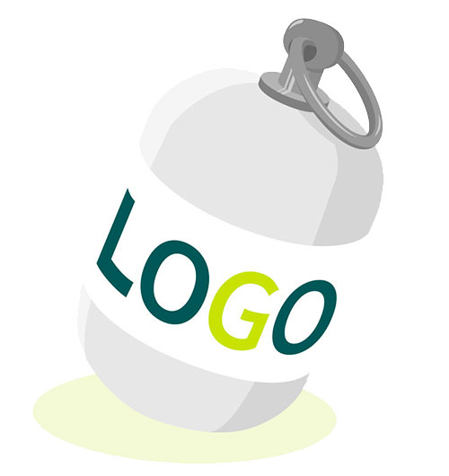Werbeartikel mit Logo, Streuartikel, Giveaway, Merchandising, Werbemittel RettEi-Logo bedrucken lassen. Bild als Illustration.