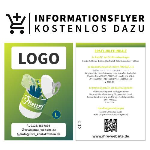 Logo auf Informationsflyer kostenlos dazu