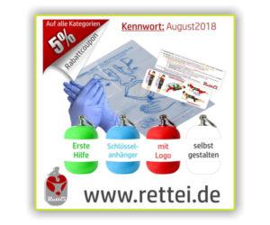 Werbeaktion und Werbegrafik von RettEi b2018_2019
