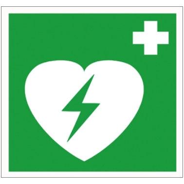Hinweisschild Defibrillator