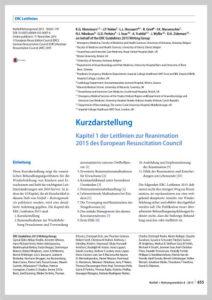 Reanimationsleitlinien 2015 vom Deutschen Rat für Wiederbelebung in Kurzdarstellung