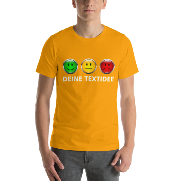 Kurzärmliges Herren-T-Shirt mit Ampelmotiv personalisieren als Geschenk oder Präsent