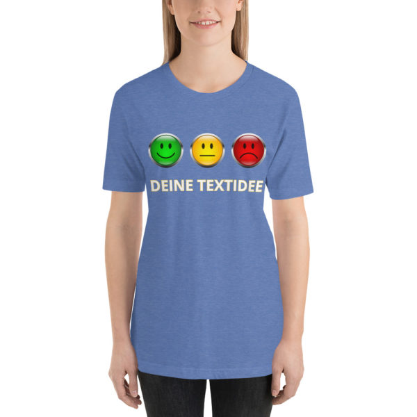 Kurzärmliges Damen-T-Shirt mit Ampelmotiv personalisieren als Geschenk oder Präsent