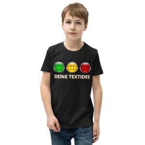 Kurzärmliges Jungen-T-Shirt mit Ampelmotiv personalisierenals Geschenk oder Präsent