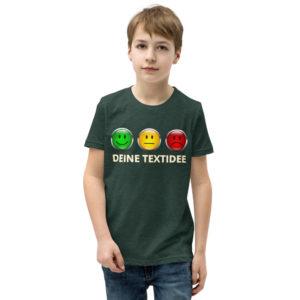 Kurzärmliges Jungen-T-Shirt mit Ampelmotiv personalisieren als Geschenk oder Präsent