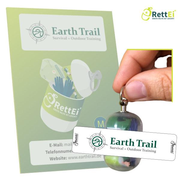 Erste Hilfe Schlüsselanhänger RettEi Earth Trail