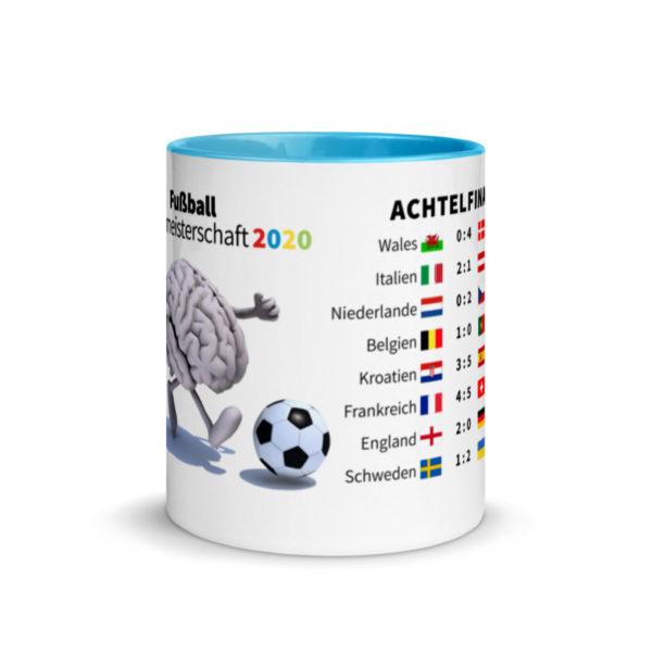 Motivtasse Fußball Europameisterschaft EM 2020 Achtelfinale in Blau