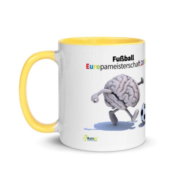 Motivtasse Fußball Europameisterschaft EM 2020 Achtelfinale in Gelb