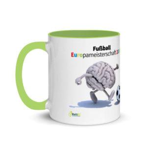 Motivtasse Fußball Europameisterschaft EM 2020 Achtelfinale in Grün