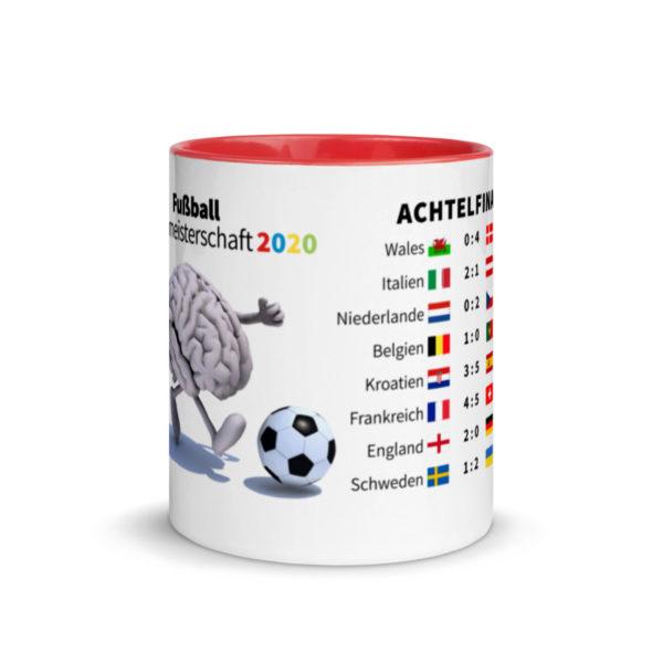 Motivtasse Fußball Europameisterschaft EM 2020 Achtelfinale in Rot