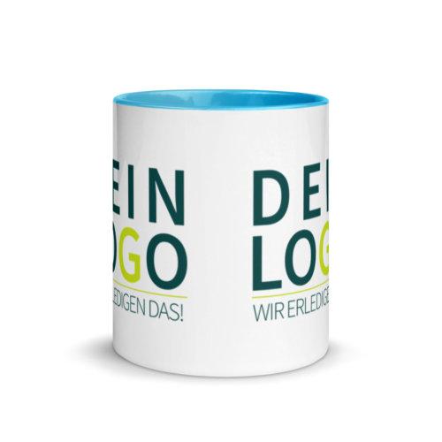Tasse mit Logo bedrucken lassen in blau