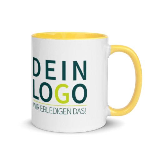 Tasse mit Logo bedrucken lassen in Gelb