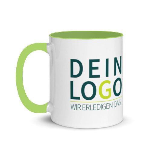 Tasse mit Logo bedrucken lassen in Grün