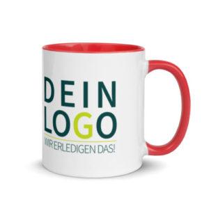 Tasse mit Logo bedrucken lassen in rot