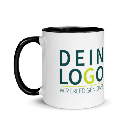 Tasse mit Logo bedrucken lassen in Schwarz