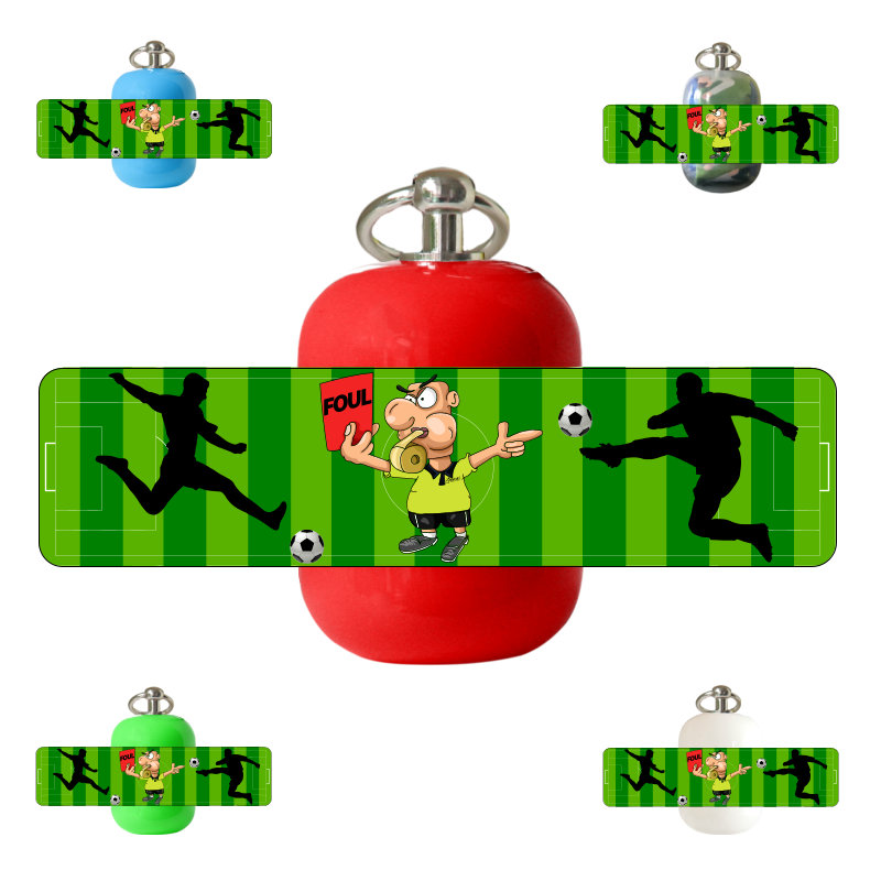 Erste-Hilfe Schlüsselanhänger mit Beatmungstuch als Beatmungshilfe als Notfall-Set für Ersthelfer_Fußball